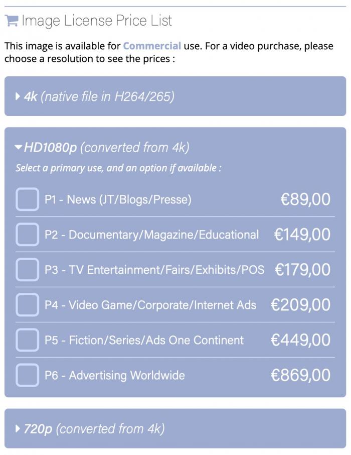 HD1080p Price List - UK
