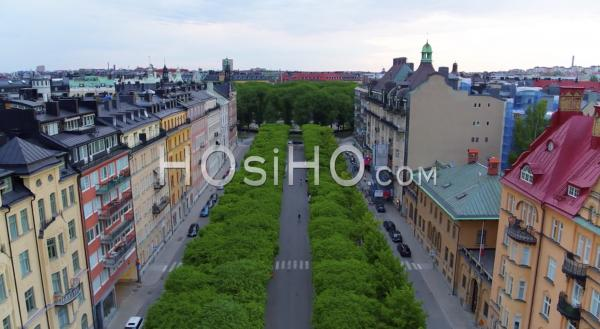 The Beautiful Narvavagen Avenue At Ostermalm In Central Stockholm Sweden