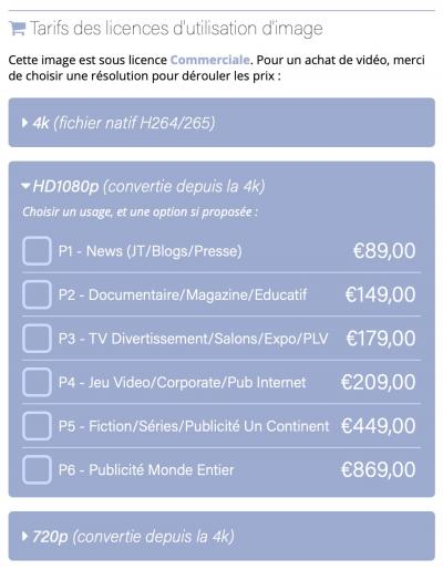 HD1080p Price List - FR